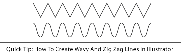 howtocreatezigzagline Quick Tip: How To Create Wavy And Zig Zag lines In Illustrator