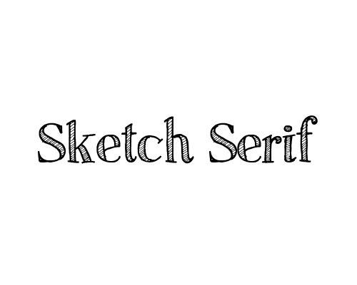 sketch-serif