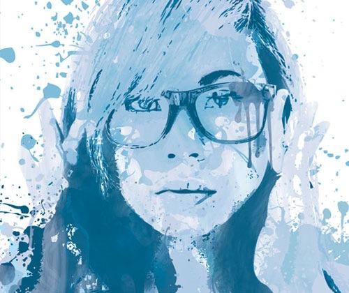 splatterportait 85 Best Photoshop Tutorials From 2012