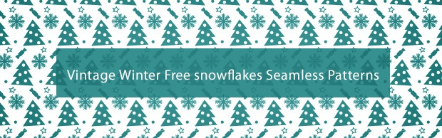 vintagevectorsnowflakespattern A Great Free Festive Seamless Christmas Pattern