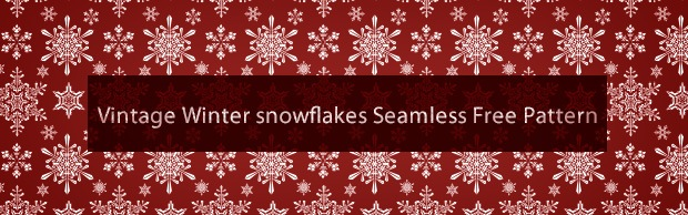 vintage-winter-snowflakes-pattern