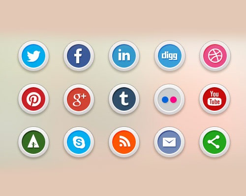 circularsocialmediaicons 40 Best Free Icon Sets Released 2012