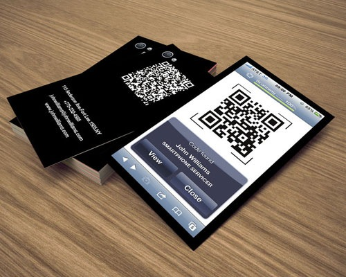 iphonebusinessqr 25 Smart And Creative Ways To Implement QR Codes