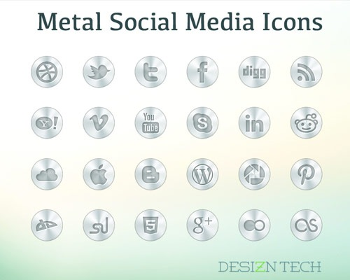 metalsocialmediaicons 40 Best Free Icon Sets Released 2012