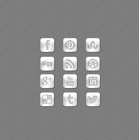 metalsocialmediaicons1 Metal Social Media Free Icon Set