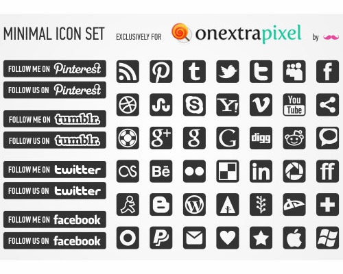 minmialiconset 40 Best Free Icon Sets Released 2012