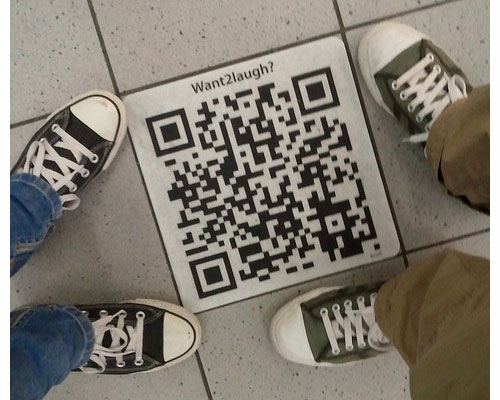 qrcodeonfloorr 25 Smart And Creative Ways To Implement QR Codes