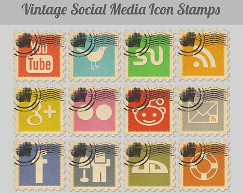 vintagesocialmediaicons 40 Best Free Icon Sets Released 2012