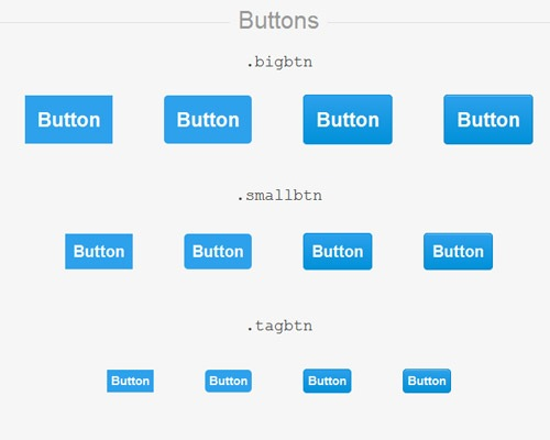 css3bluebuttons 25 CSS3 Free Buttons For Designers
