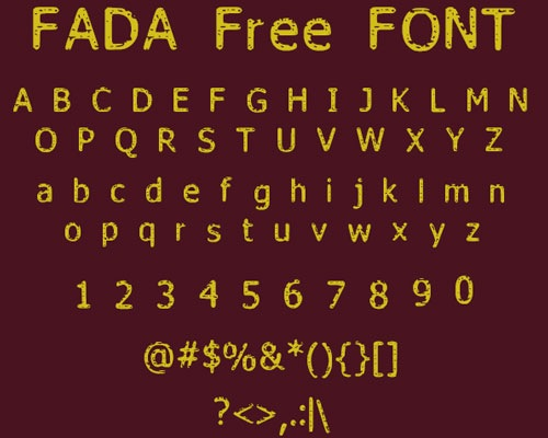 fada 50 Best Free Fonts From 2013