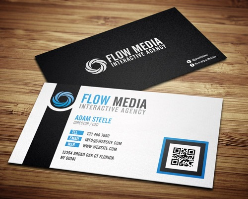 flowmedia 50 free PSD business card template designs
