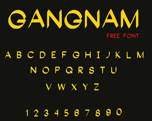 gangnam 50 Best Free Fonts From 2013