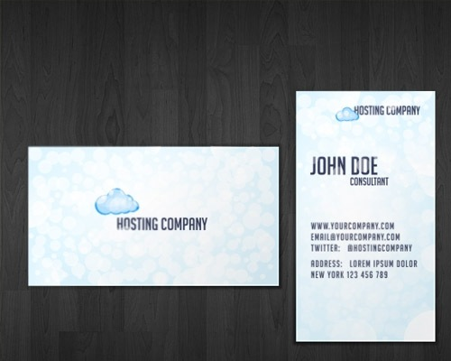 hostingcompany 50 free PSD business card template designs