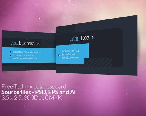 jonhdoebusinesscard 50 free PSD business card template designs