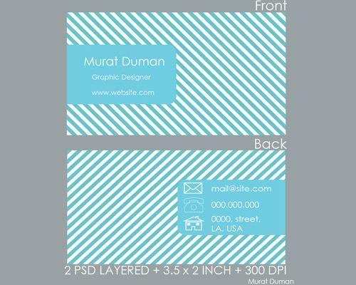 maratduham 50 free PSD business card template designs
