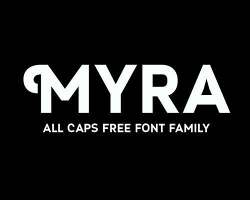 myra 50 Best Free Fonts From 2013