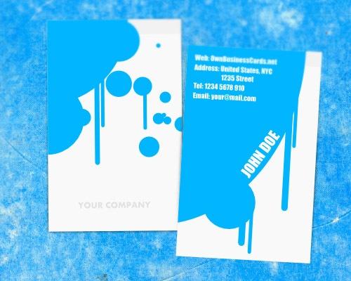 painterbusinesscard 50 free PSD business card template designs