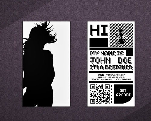 qrcode 25 Free Business Card Design Templates