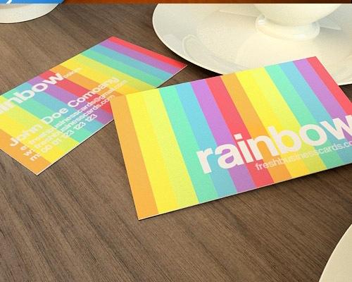 rainbow 50 free PSD business card template designs
