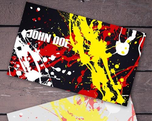 splatterbusinesscard 50 free PSD business card template designs