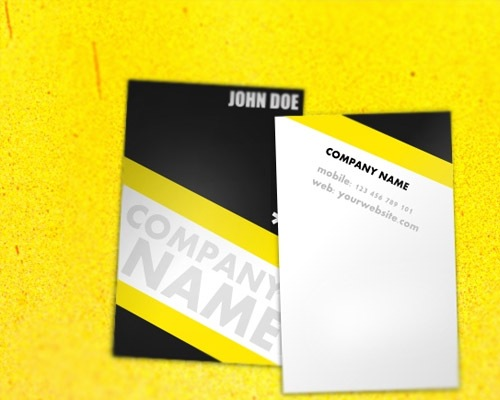 universalyellowbusinesscard 25 Free Business Card Design Templates