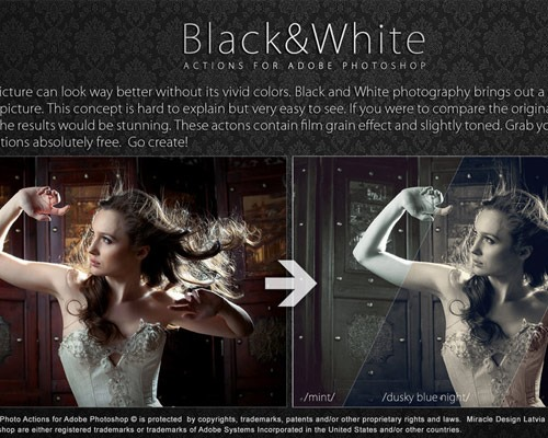 black and white thumb1 25 New Free Photoshop Actions You Must Download