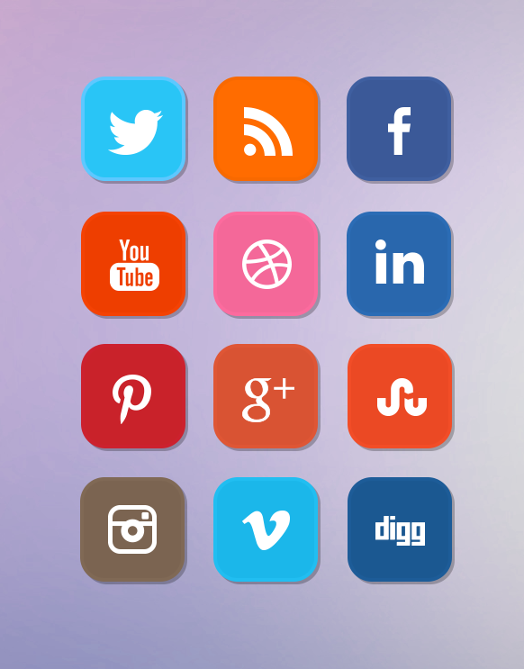 flat-social-media-icon-set