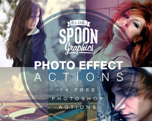 photo effects 25 New Free Photoshop Actions You Must Download
