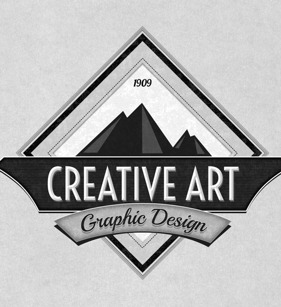 20 most beautiful retro and vintage logo designs for Painting and decorating logo ideas