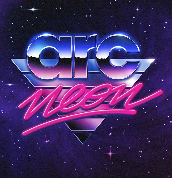 jaw dropping 80s style neon artwork designs