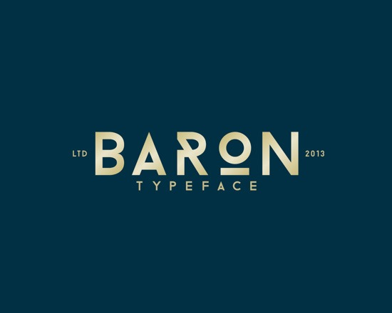 baron 50 Best Free Fonts From 2013