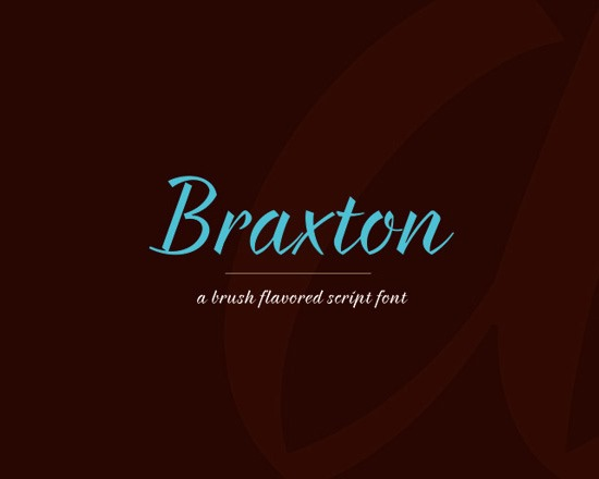 braxton thumb 50 Best Free Fonts From 2013