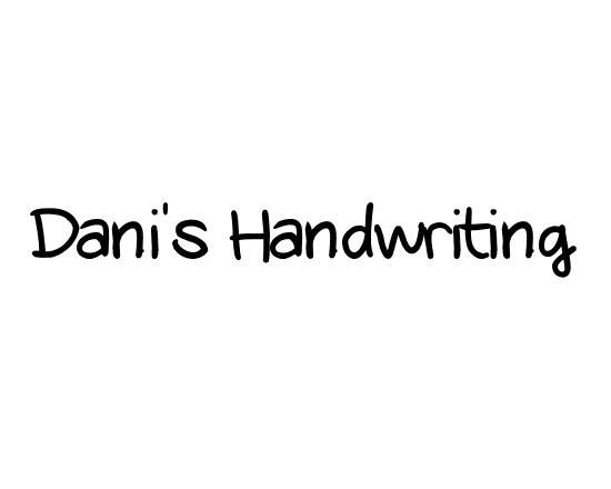 danis handwritting thumb 50 Best Free Fonts From 2013