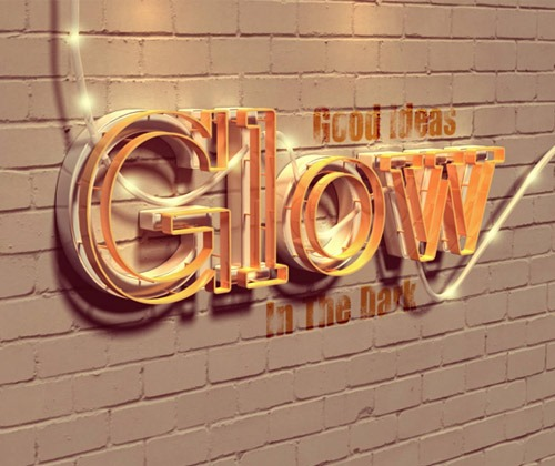glowing-text
