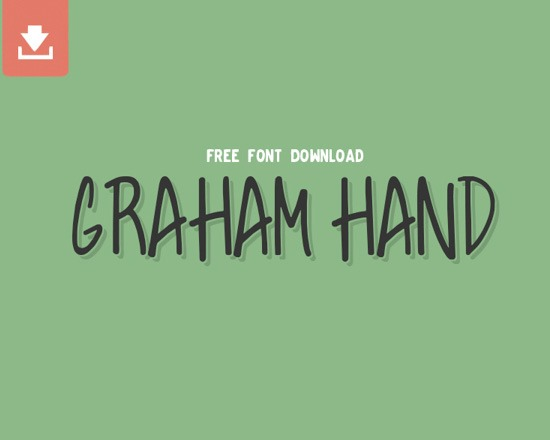 graham hand thumb 50 Best Free Fonts From 2013