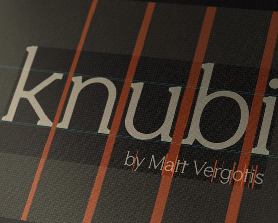 knubi thumb 50 Best Free Fonts From 2013