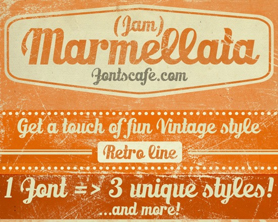 marmella thumb 50 Best Free Fonts From 2013