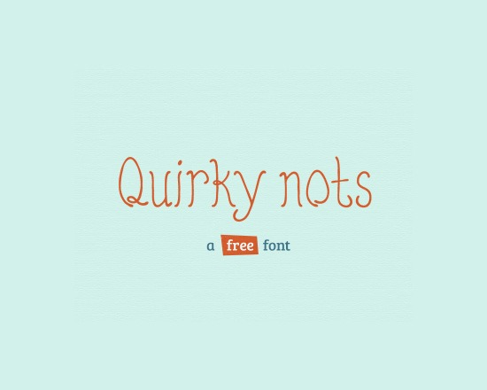 quirky nots thumb 50 Best Free Fonts From 2013