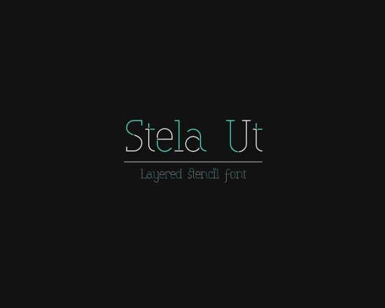 stela thumb 50 Best Free Fonts From 2013