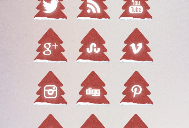 Christmas Tree Free Social Media Icons
