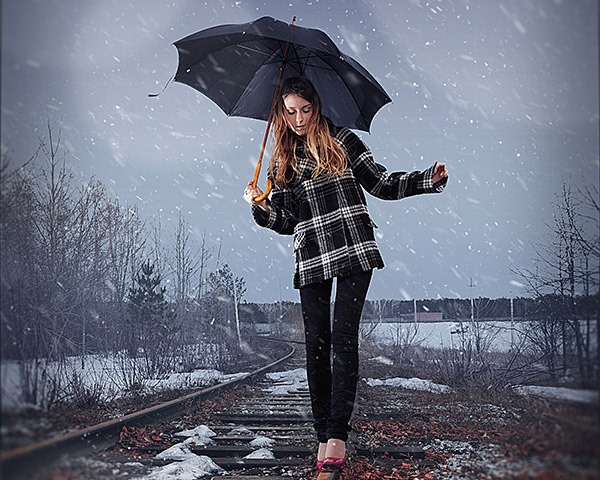 How To Add Realistic Falling Snow A Photo In Photoshop Snowflake Design
