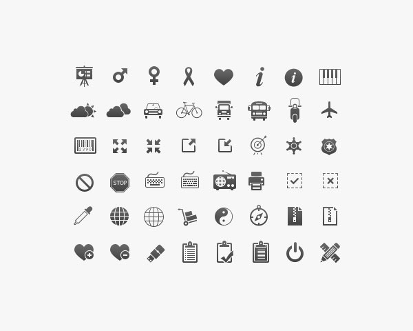 350 icons thumb 20 Free minimal icon sets