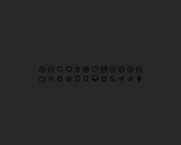 black icons 20 Free minimal icon sets