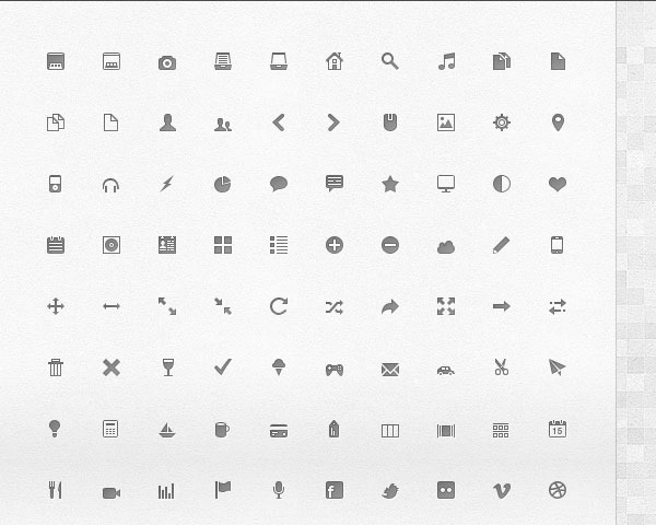 glyth icons thumb 20 Free minimal icon sets