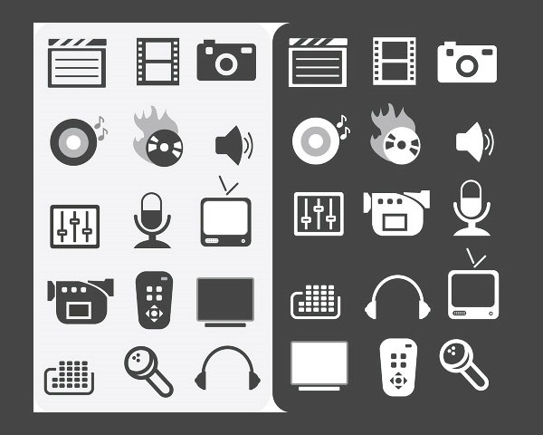 media icons thumb 20 Free minimal icon sets