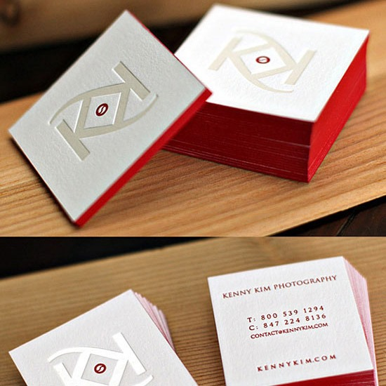 25 unique and innovating business card designs creative nerds red business card reheart Images
