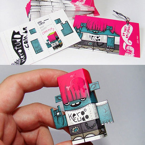 Cool street art style business cards · robot business card