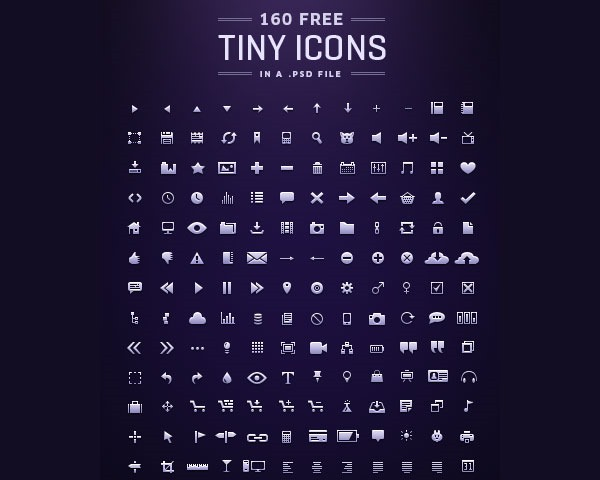tiny icons thumb 20 Free minimal icon sets