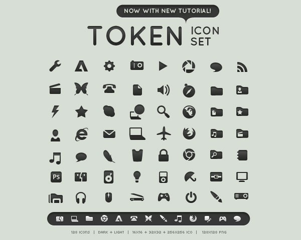 token icons thumb 20 Free minimal icon sets