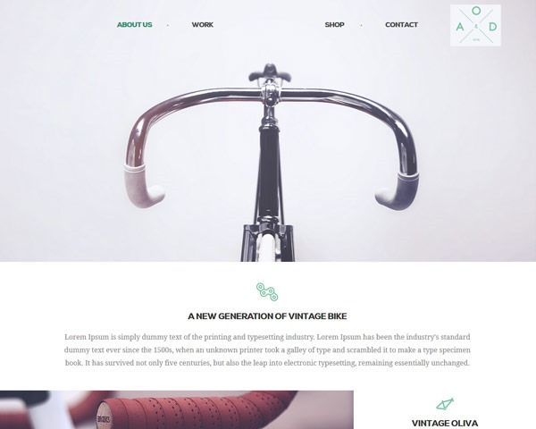 bicyle thumb 50 best free html responsive templates